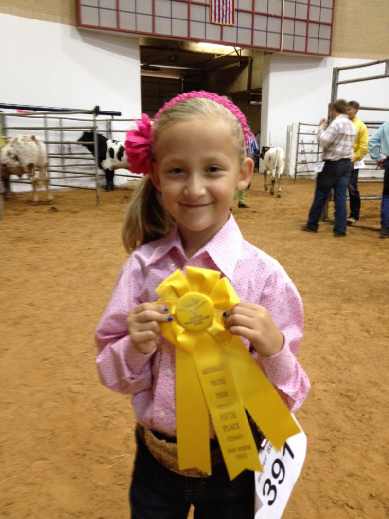 Avery took 5th in the Bull show!!