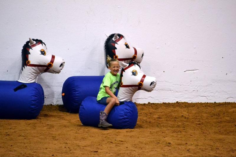 Avery and her horse from the Relay Race