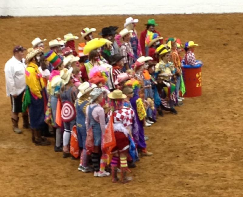 The entire group of Rodeo Clown contestants
