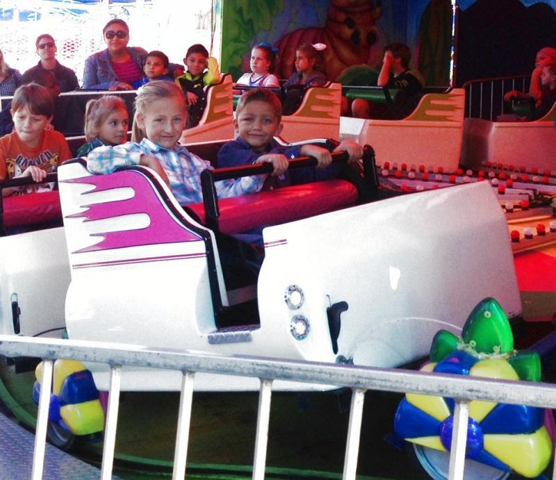 The kids enjoying some fun time!