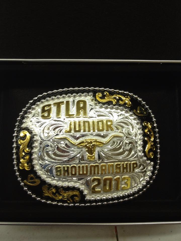 Avery's Showmanship Buckle!!
